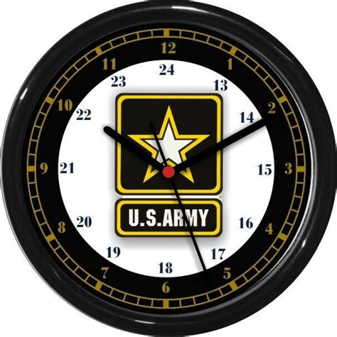 army  hour wall clock military patriotic service