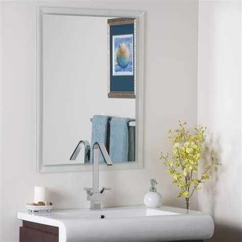 frameless wall mirrors cheap bathroom mirror with shelves simple home decoration