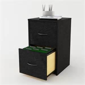 Black Wooden File Cabinet by 2 Drawer File Cabinet Black Filing Wooden Storage Computer