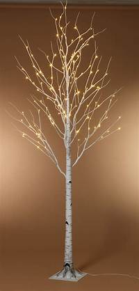lighted tree branches 8 Foot LED Lighted Birch Tree Warm White SHIPS FREE