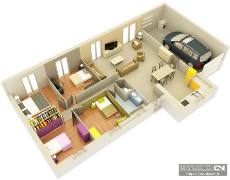 plan chambre 3d plan de maison 3d 100m2