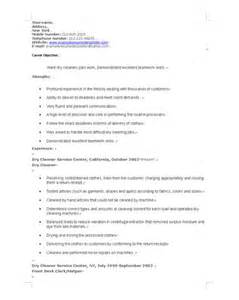 Resume Exles For A Cleaning by Office Resume Objective Cleaning Houses Resume Sles