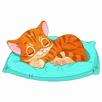 Sleeping Cat Clipart Kitten Cats Clip Kittens