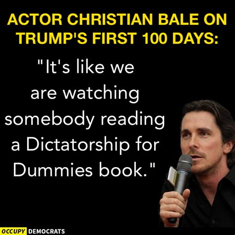 Actor Christian Bale Dictatorship For Dummies Book