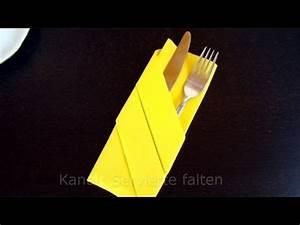 Servietten Falten Bestecktasche : servietten falten bestecktasche einfache anleitung tisch dekorieren youtube ~ Frokenaadalensverden.com Haus und Dekorationen