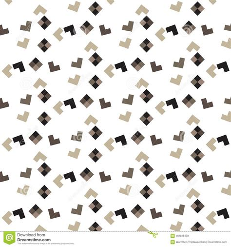 brown shade l shape and shape scatter pattern background stock vector illustration of