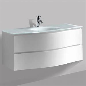 Vasque En Verre : meuble vasque avec plan en verre 122 cm wave2 ~ Melissatoandfro.com Idées de Décoration