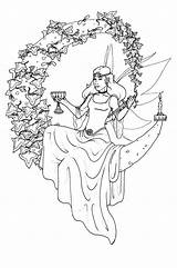 Coloring Wiccan Pages Adult Printable Adults Pagan Yule Colouring Witch Line Fairy Books Colour Sheets Drawings Fairies Fantasy Wicca Fae sketch template