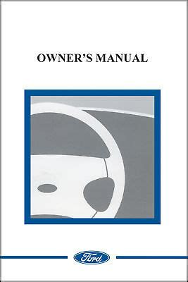 ford  mustang shelby owner manual   ebay