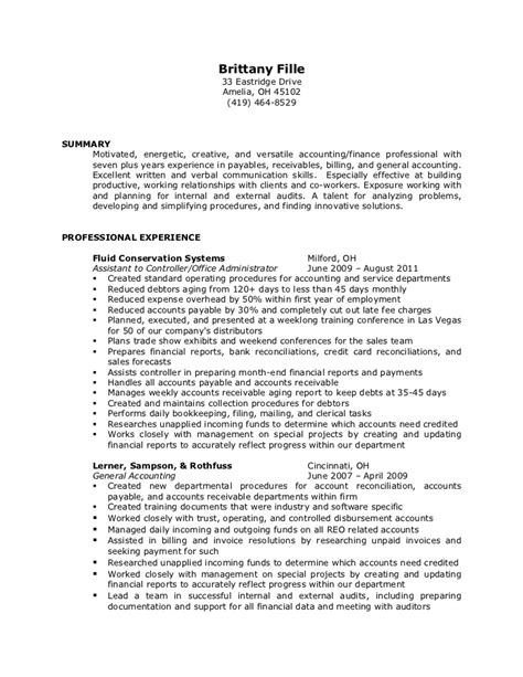 External Auditor Resume Achievements by Fille Resume