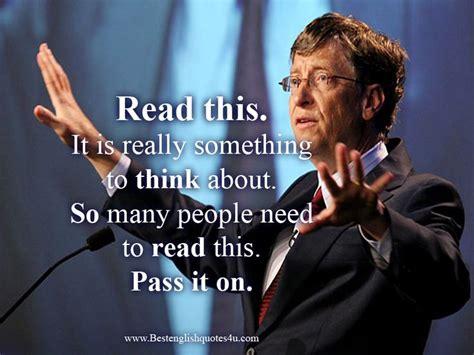 Words of Wisdom from Bill Gates. (A must read) | Best ...