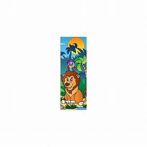 Papier Peint Sticker : papier peint porte enfant lion 706 stickers muraux enfant ~ Premium-room.com Idées de Décoration