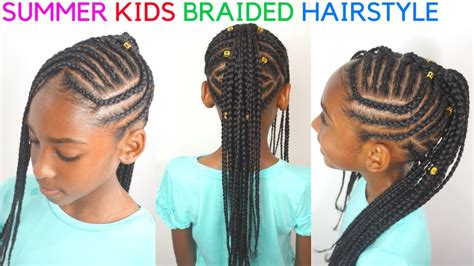 kids braided hairstyles tutorial mohawk cornrows for