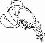 Lobster Coloring Pages Cold Water Larry Printable Template Cartoon Spongebob sketch template