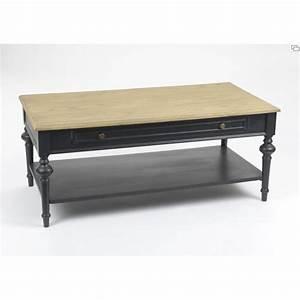 Table Basse Rectangulaire Bois : table basse new legende 120 cm en bois noir et naturel ~ Teatrodelosmanantiales.com Idées de Décoration