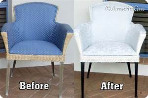 americkim39s home diy how to reupholster a wicker chair With recover rattan furniture