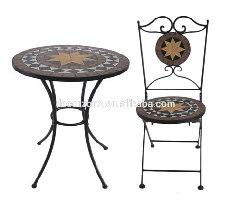 outdoor ceramic iron bistro garden table chair set