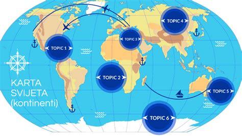 Karta Sveta Kontinenti | Gugl Mapa