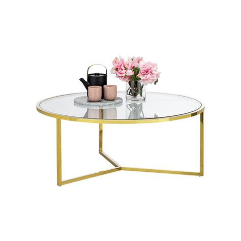 It is a quality choice that features a thick. Bianka Tempered Glass & Stainless Steel Round Coffee Table, 100cm