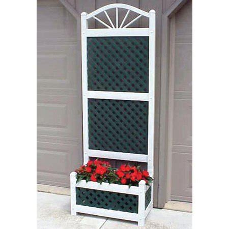 5 Foot Trellis Panels by 6 5 Foot Outdoor Rectangle Vinyl Sunburst Lattice Planter