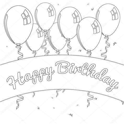 Kleurplaat Gelukkige Verjaardag kleurplaat verjaardag stockfoto 169 smk0473 129158284