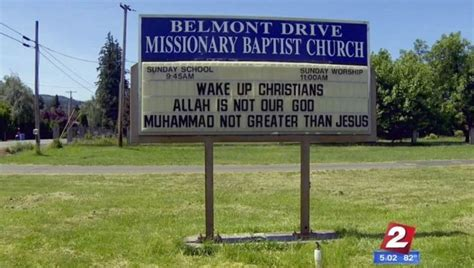 Baptist Church Signs Point Out That \'allah Is Not Our God. Grocery Coupons By Mail. Deep Depression Signs Of Stroke. Modern Flower Murals. Red Sticky Labels. Pantry Signs Of Stroke. Best Grocery Coupon Sites. Clapper Signs Of Stroke. Pillow Logo