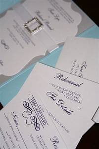 Light Blue and Silver Wedding Invitations - Too Chic ...