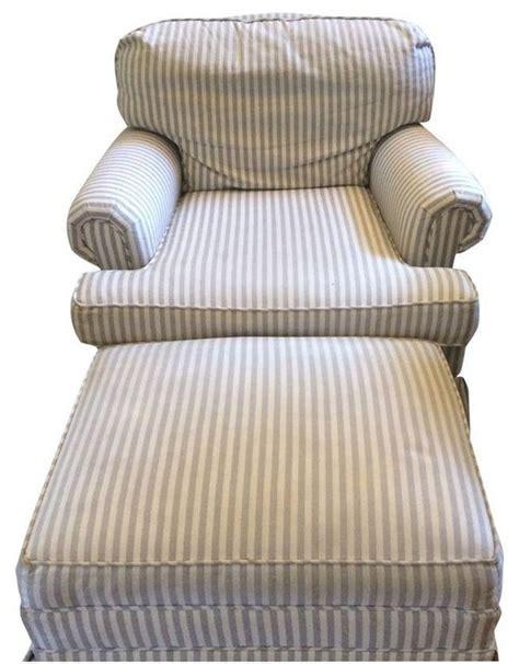 industries striped chair ottoman set modern