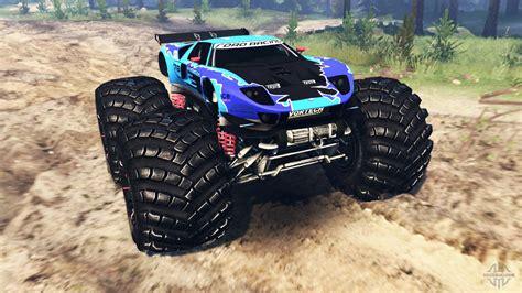 Do you like monster truck: Ford GT monster truck para Spin Tires