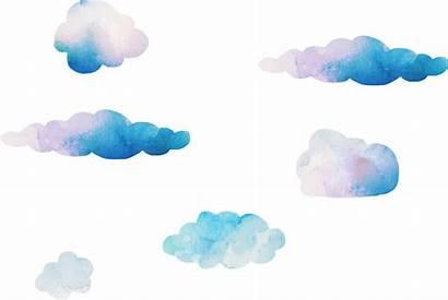 Cloud Watercolor Transparent Clouds Clipart Clip Cartoon
