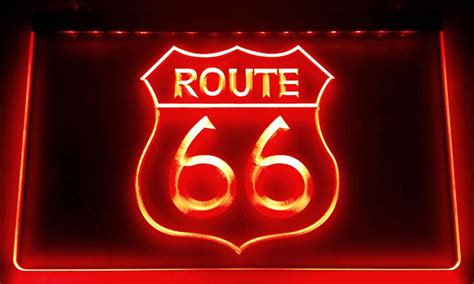 2017 Ls010 Historic Route 66 Mother Road Led Neon Sign