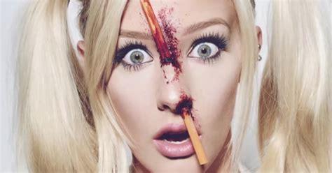 pencil  nose halloween makeup tutorial popsugar beauty