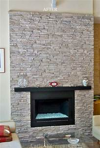 Faux Stone Fireplace - Contemporary - Family Room - miami