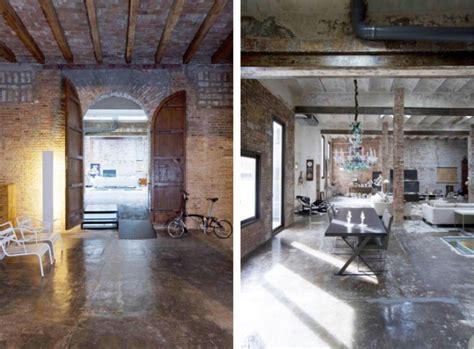 warehouse conversion modern rustic houses  barcelona