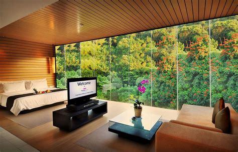 hotel  pemandangan hutan  cantik  bandung