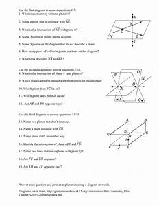 1 1 Points Lines And Planes Worksheet Answers
