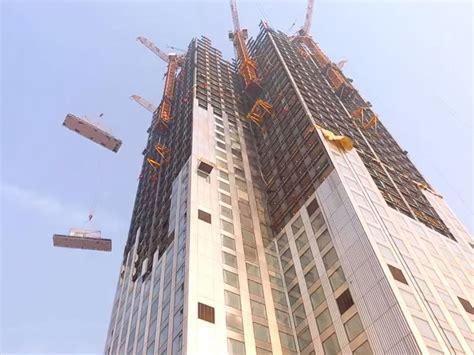 Chinese Company Records Time Lapse Video Skyscraper