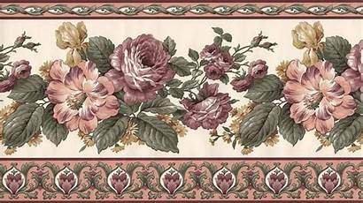 Victorian Floral Rose Border Wall Borders Designs