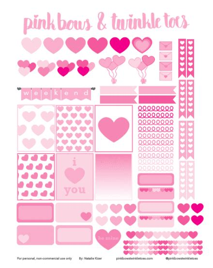 All freebies are available for just 24 hours, so download them fast before they expire. Valentine's Day Planner Stickers: Free Printable ...