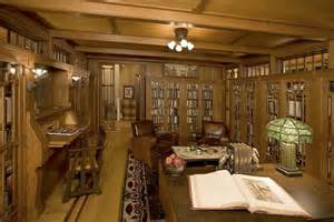 bungalow style homes interior arts crafts style library