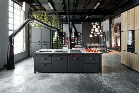 hotte de cuisine stainless minà un îlot de cuisine tout en un ultra contemporain