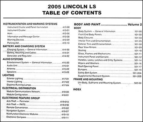 old car owners manuals 2005 lincoln ls auto manual 2005 lincoln ls repair shop manual 2 volume set original