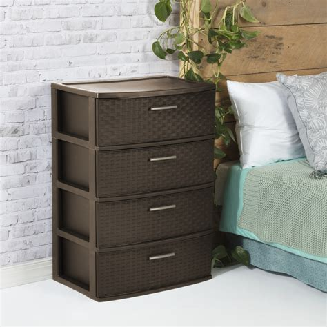 Small Narrow Drawer Unit by Sterilite 4 Drawer Unit Chest Of Drawers
