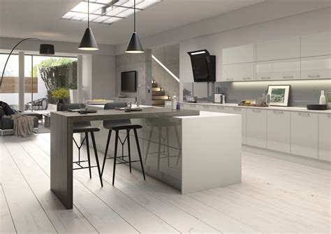 high gloss gray kitchen cabinets high gloss slab complete kitchen units visit our kitchen