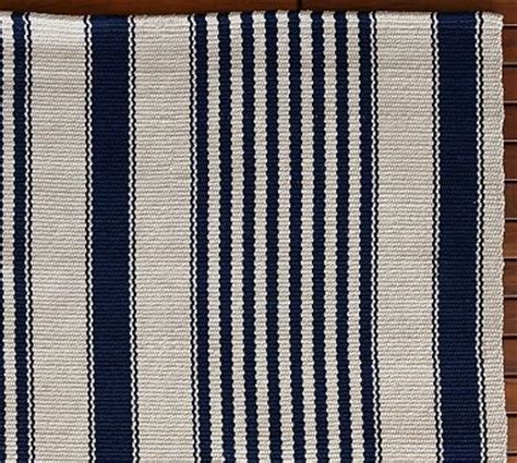 port stripe indoor outdoor rug blue pottery barn