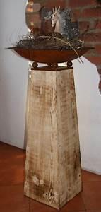 Dekorationen Aus Holz : flambierte holz deko blumens ule 85 cm edelrostshop ~ Yasmunasinghe.com Haus und Dekorationen