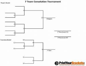 7 Man Consolation Tournament Bracket - Printable