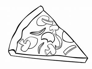 Coloring Pictures Of Pizza Toppings Coloring Pages
