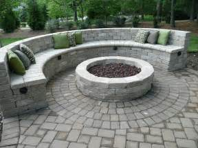 patio seat wall design fire pit with seating wall fire pits pinterest