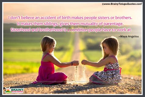 Imágenes De Brother And Sister Relationship Quotes In Telugu